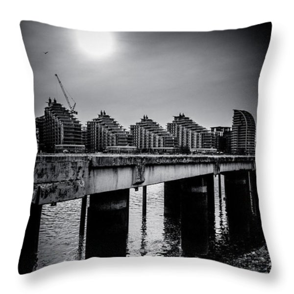 New Apartments near Battersea Throw Pillow by Lenny Carter