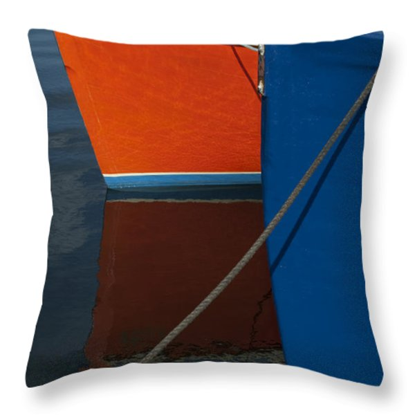 New Bedford Waterfront No. 3 Throw Pillow by David Gordon