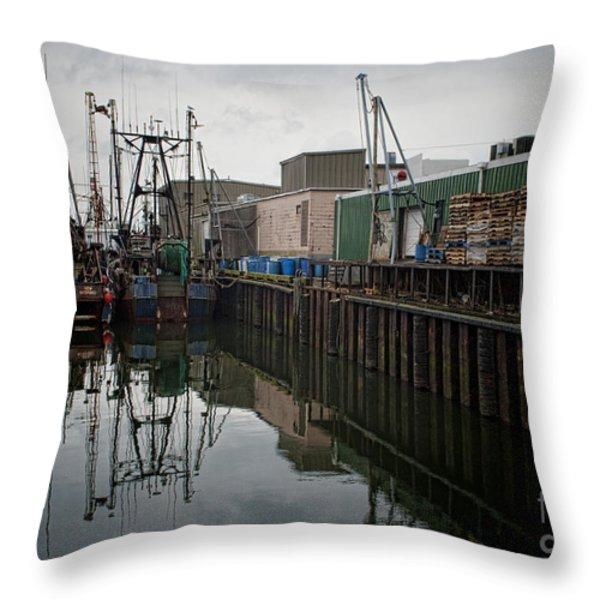 New Bedford Waterfront No. 4 Throw Pillow by David Gordon