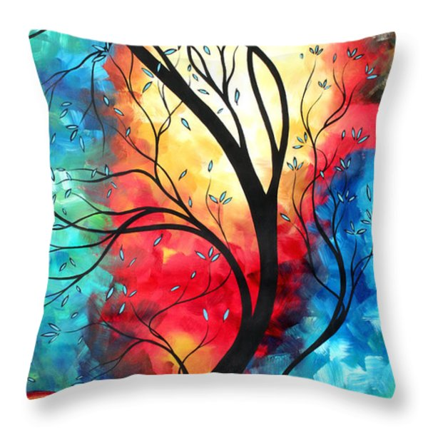 New Beginnings Original Art by MADART Throw Pillow by Megan Duncanson