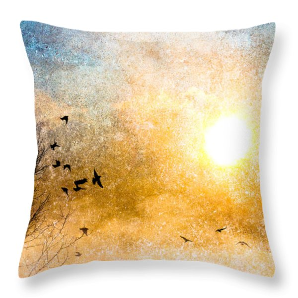 New Day Yesterday Throw Pillow by Bob Orsillo