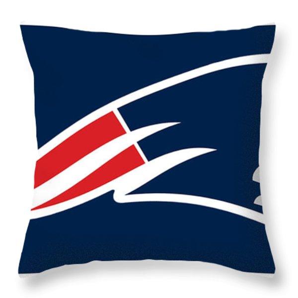 New England Patriots Throw Pillow by Tony Rubino