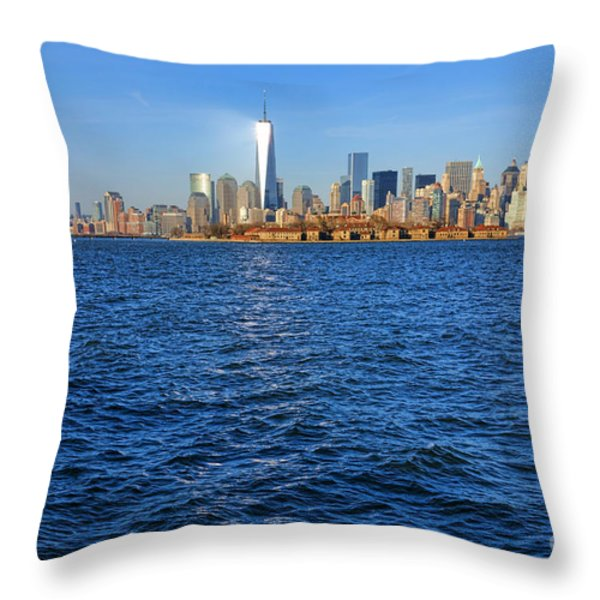 New Light on the Water Throw Pillow by Olivier Le Queinec