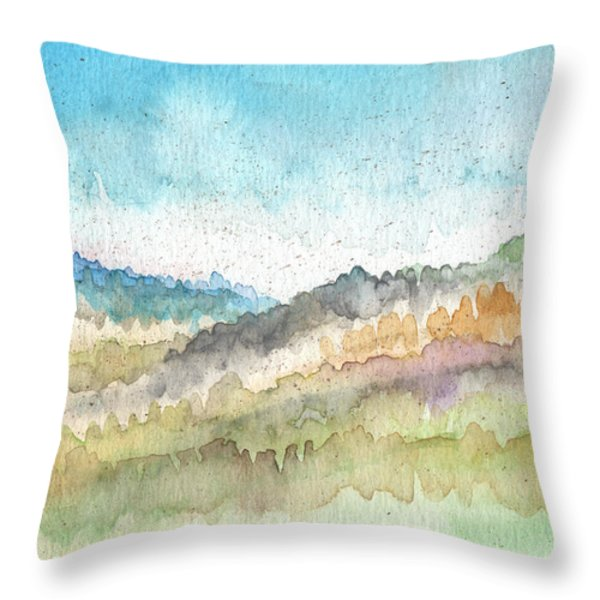 New Morning Throw Pillow by Linda Woods