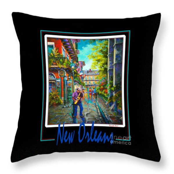 New Orleans Throw Pillow by Dianne Parks