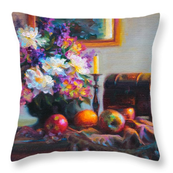 New Reflections Throw Pillow by Talya Johnson