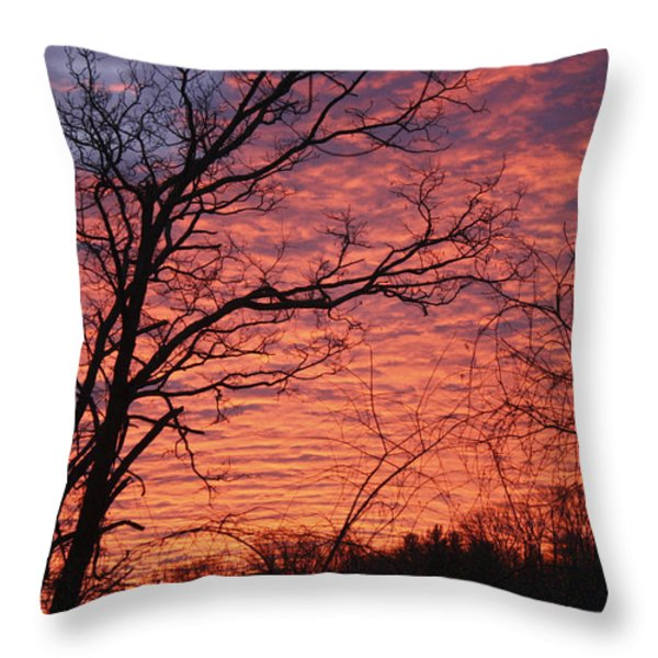 New Year Eve Sunrise Throw Pillow by Teresa Mucha