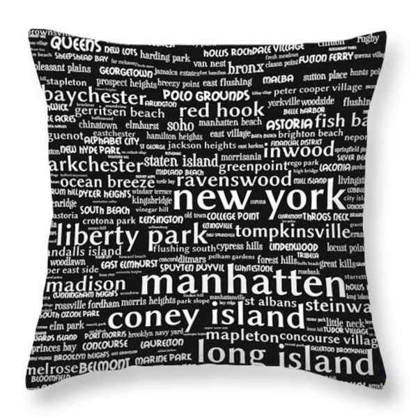 New York 20130709bw Throw Pillow by Wingsdomain Art and Photography