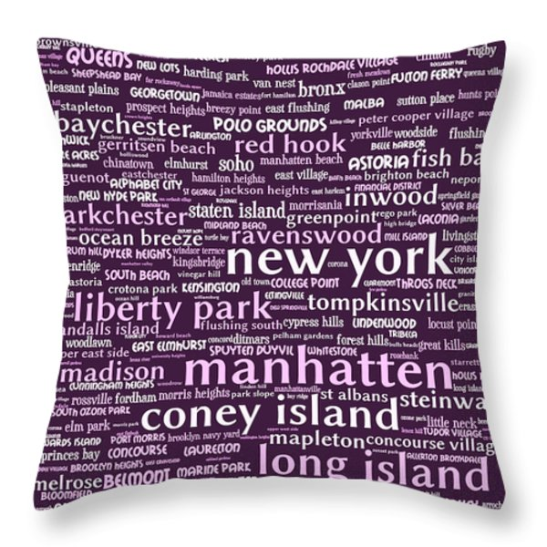 New York 20130709bwma Throw Pillow by Wingsdomain Art and Photography