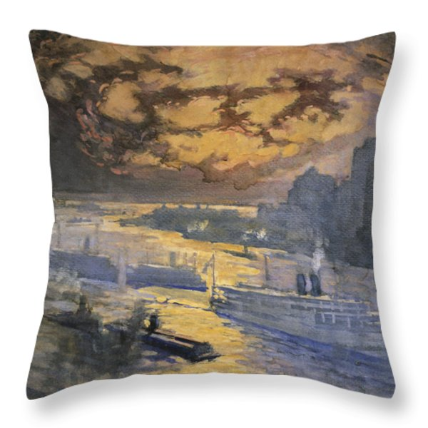 New York City Circa 1921 Throw Pillow by Aged Pixel