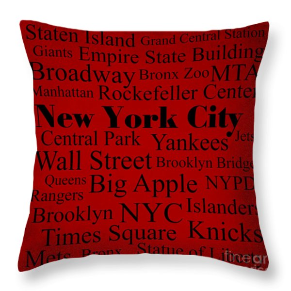 New York City Throw Pillow by Denyse and Laura Design Studio