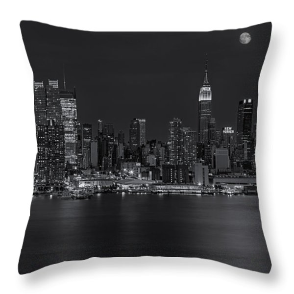 New York City Night Lights Throw Pillow by Susan Candelario