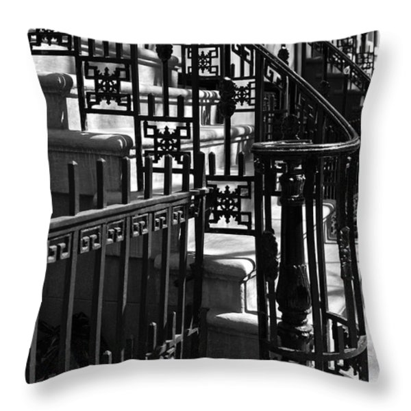 New York City Wrought Iron Throw Pillow by Rona Black