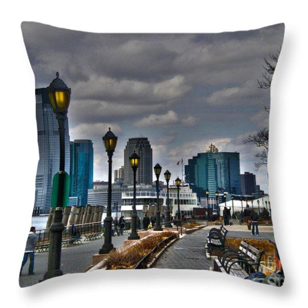 New York Throw Pillow by Claudia Mottram