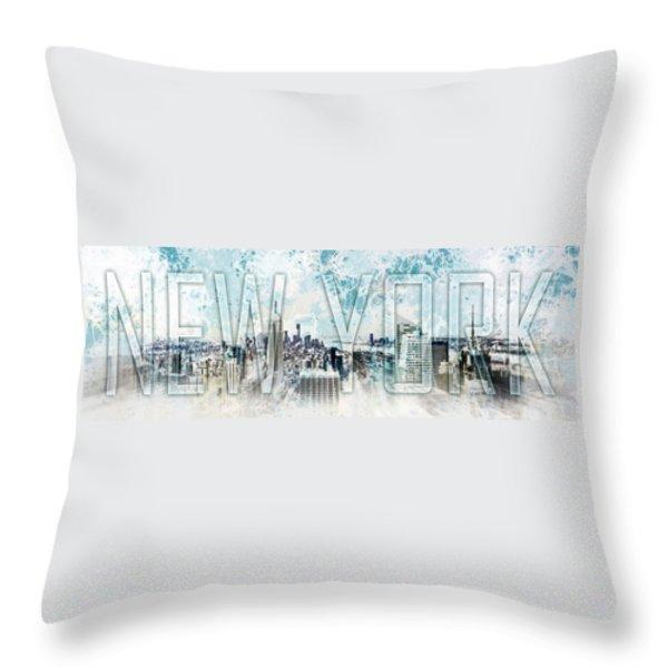 NEW YORK Digital-Art No.1 Throw Pillow by Melanie Viola