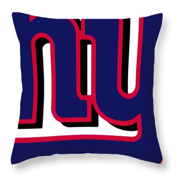 New York Giants Football 2 Throw Pillow by Tony Rubino