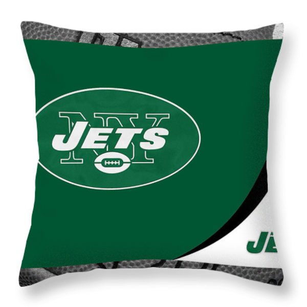 NEW YORK JETS Throw Pillow by Joe Hamilton