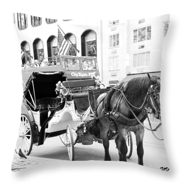 New York Throw Pillow by Lorna Maza