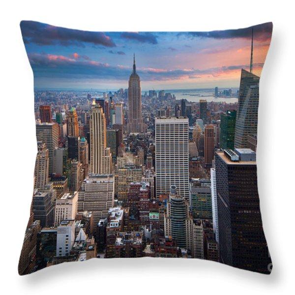 New York New York Throw Pillow by Inge Johnsson