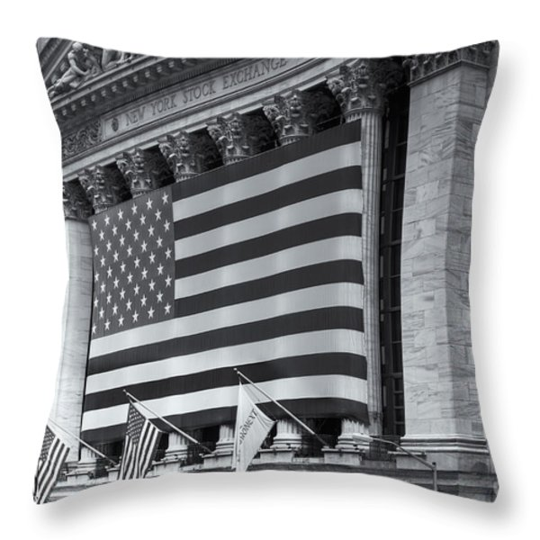 New York Stock Exchange IV Throw Pillow by Clarence Holmes