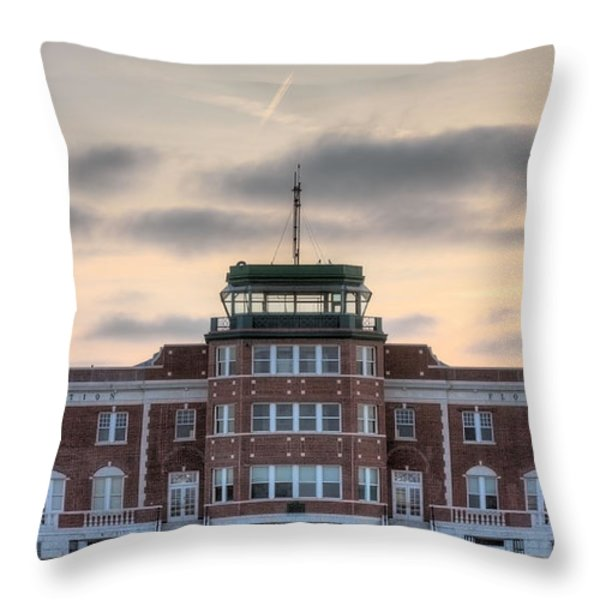 New York's First Throw Pillow by JC Findley