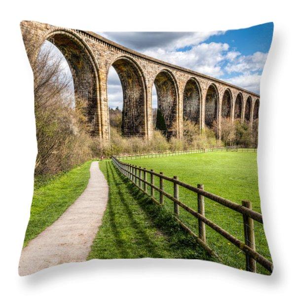 Newbridge Viaduct Throw Pillow by Adrian Evans