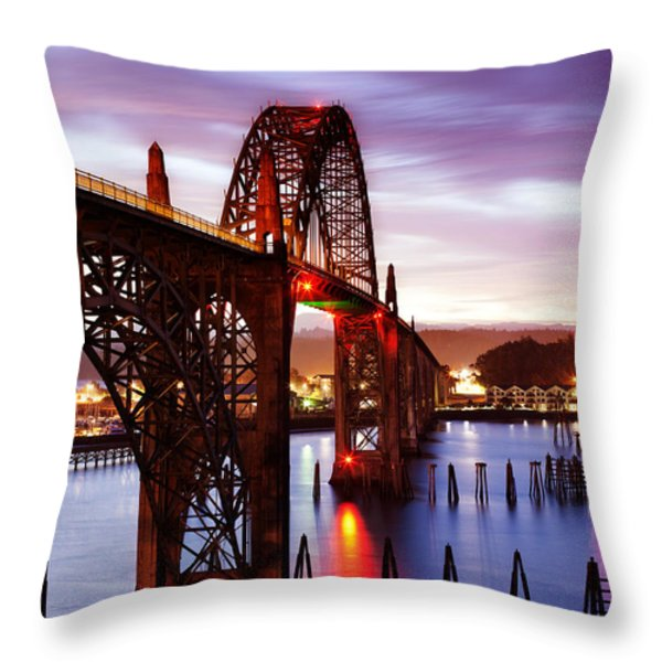 Newport Dawn Throw Pillow by Darren  White