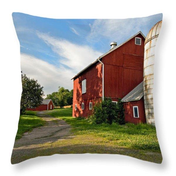 Newtown Barn Throw Pillow by Bill  Wakeley