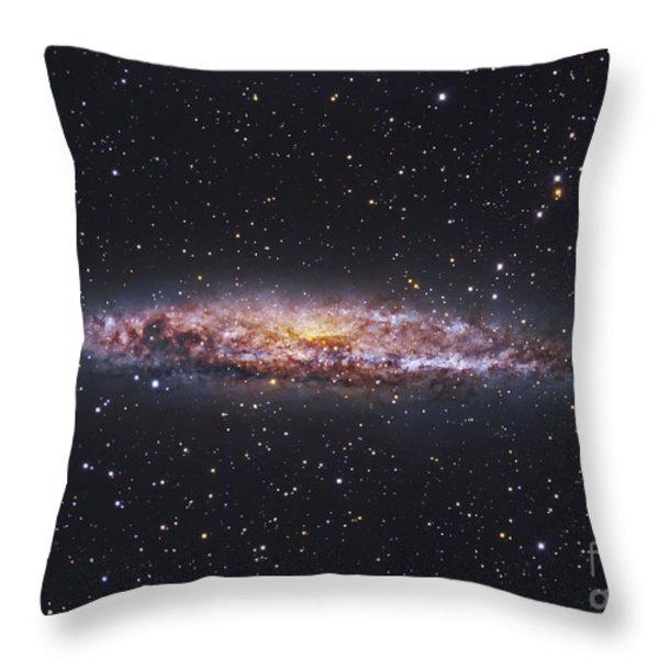 Ngc 4945, Starburst Galaxy In Centaurus Throw Pillow by Robert Gendler