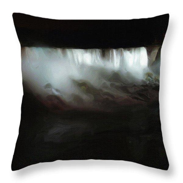 Niagara Falls By Night Throw Pillow by Ayse Deniz