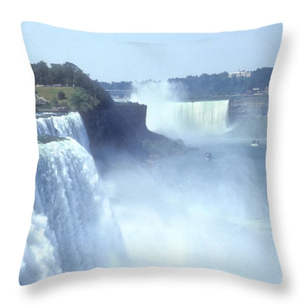 NIAGARA FALLS - New York Throw Pillow by Mike McGlothlen