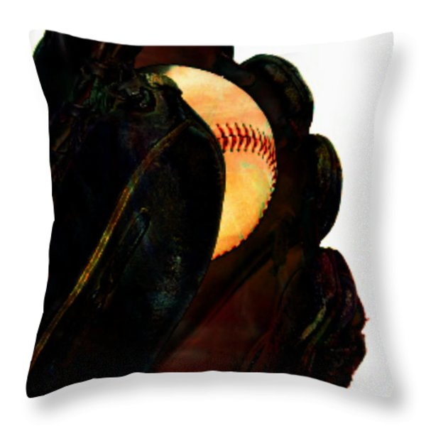 Nice Catch Throw Pillow by M and L Creations