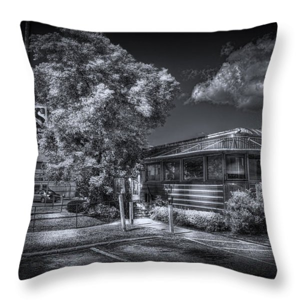 Nicko's Restaurant Throw Pillow by Marvin Spates