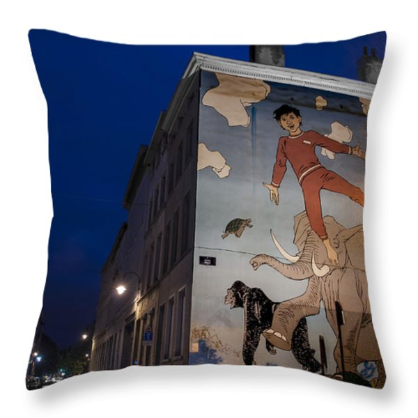 Nic's Dreams Throw Pillow by Juli Scalzi