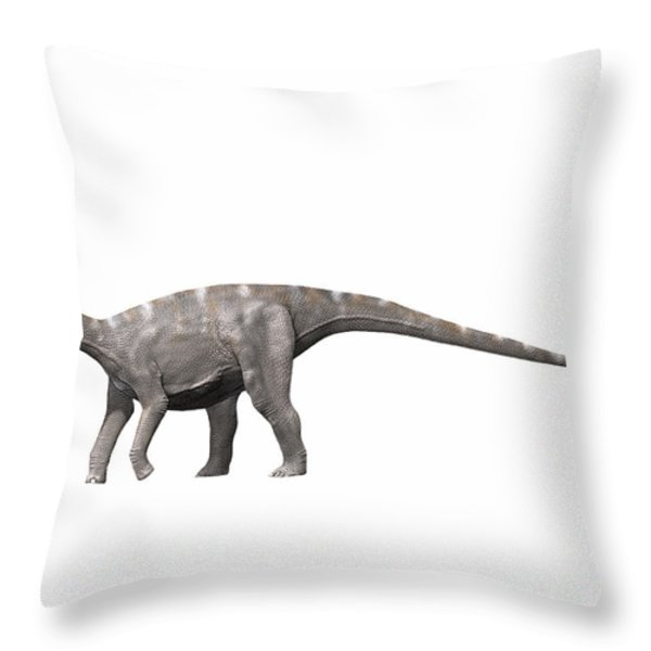 Nigersaurus Taqueti, Early Cretaceous Throw Pillow by Nobumichi Tamura