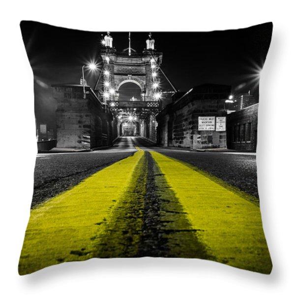 Night Bridge Throw Pillow by Keith Allen