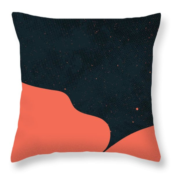 Night fills up the sky Throw Pillow by Budi Kwan