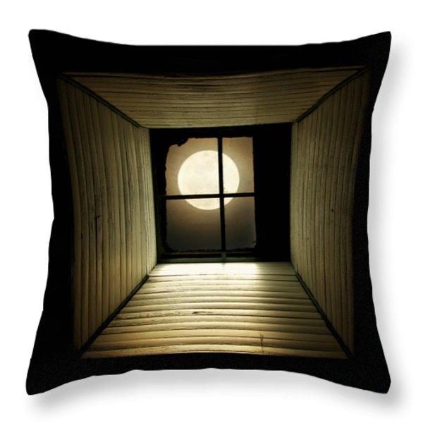 Night Light Throw Pillow by Amy Tyler