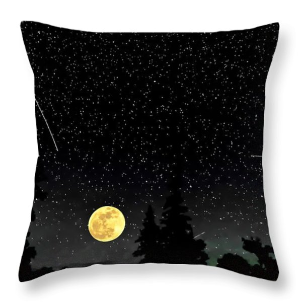 Night Moves Throw Pillow by Steve Harrington