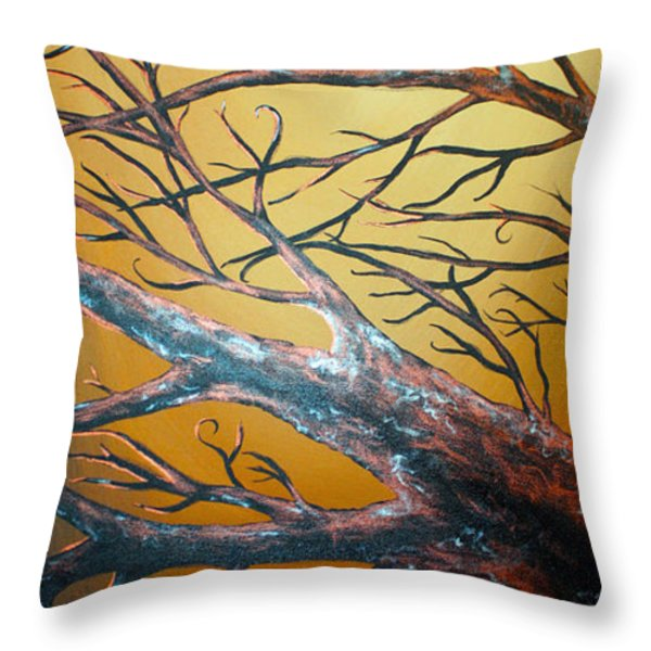 Night Of The Eclipse Panel 3 Throw Pillow by Teshia Art