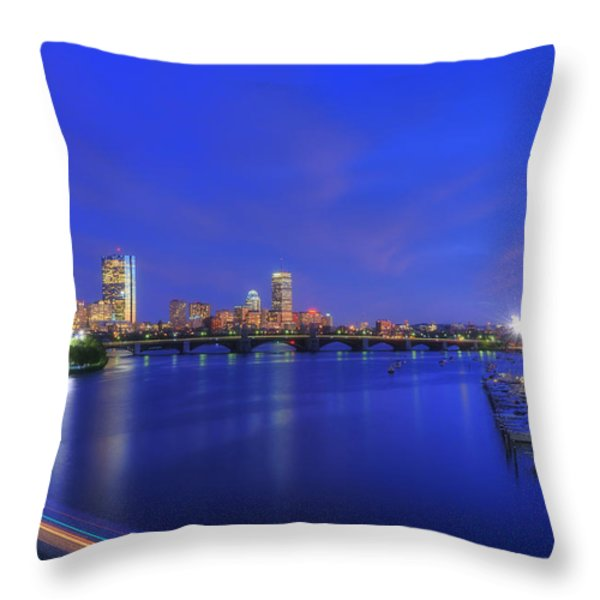 Night On The Charles 2 Throw Pillow by Joann Vitali