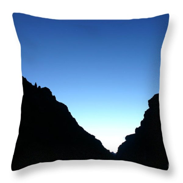 Night On The Grand Throw Pillow by Crystal Magee
