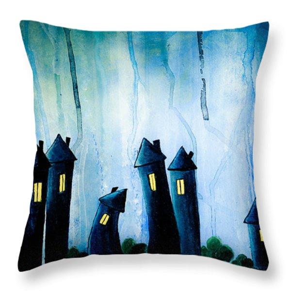 Night Owls Throw Pillow by Nirdesha Munasinghe