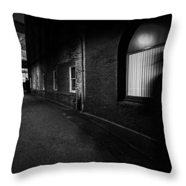 Night People Throw Pillow by Bob Orsillo