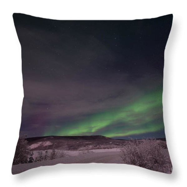 Night Skies Throw Pillow by Priska Wettstein