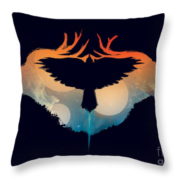 Night Sky Over Savannah Throw Pillow by Budi Satria Kwan