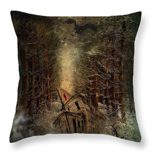 Night Story Throw Pillow by Svetlana Sewell
