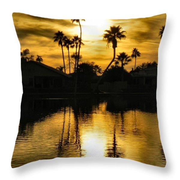 Nightfall Throw Pillow by Deb Halloran