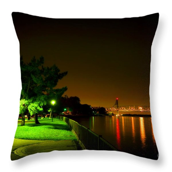 Nightime Promenade Throw Pillow by Olivier Le Queinec