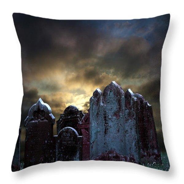Nightmare Hill Throw Pillow by Svetlana Sewell